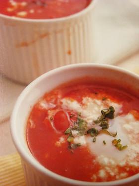 クイック♡トマトのココットdeスープ