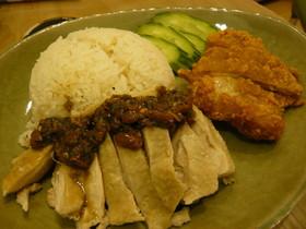 カオマンガイ(蒸し鶏のごはんのっけ)