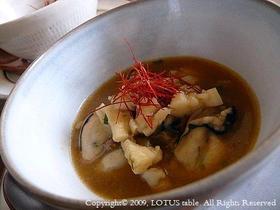 牡蠣とホタテの麻婆風