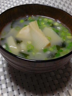 筍のお味噌汁