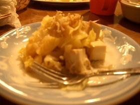 レストランのサラダみたい キャベツと豆腐