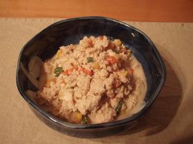 豆腐であと一品!簡単ゴマ風味炒り豆腐♪