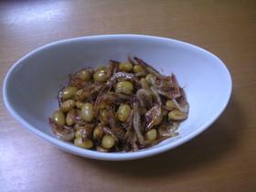 カルシウムたっぷり桜海老と大豆煮