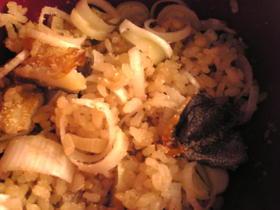 塩鱈と葱の混ぜご飯