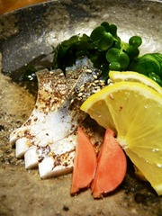 炙り焼しめ鯖の酢の物の写真
