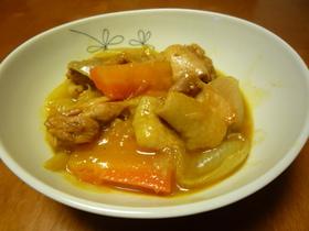 たまねぎと鶏肉のカレーケチャップ煮
