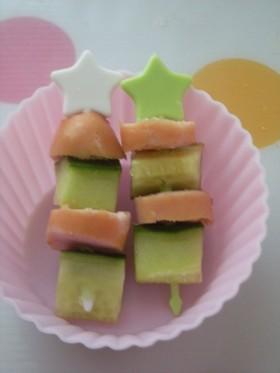 お弁当に♡きゅうりとウインナーしましま串