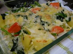 ☆給料日前の残り物野菜のチーズ焼き☆