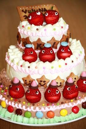 ひなまつりのデコレーションケーキ♡