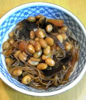 水煮大豆を使ってヘルシー五目煮