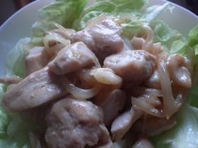 鶏ムネ肉のコンソメ炒め