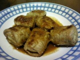 豚肉・高野豆腐巻きの生姜焼き
