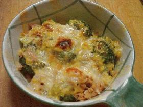 ブロッコリーとツナのマヨコーンチーズ焼き