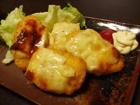 ナゲットのガーリックチーズ焼き