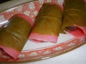 関東風の桜餅(米粉使用)