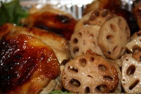 レンコンと鶏のお酢でさっぱり漬け焼き