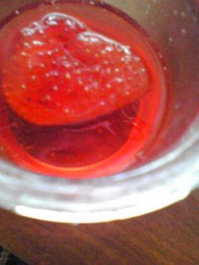 苺の水あめ レンジで12分