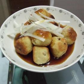 豆腐団子の甘酢あんかけ