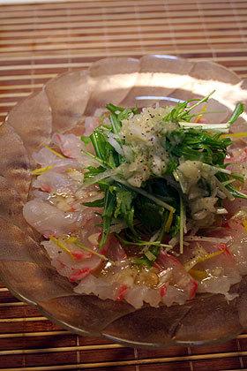 真鯛のカルパッチョ♡ サラダ風