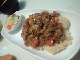 豆と牛肉のカレー