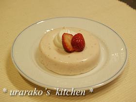 いちごのクリームチーズババロア