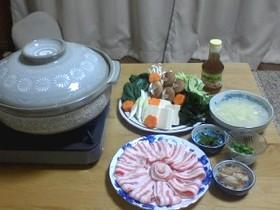 ☆激ウマ☆豚のしゃぶしゃぶ de 薬味鍋