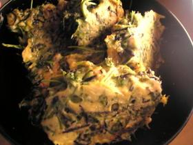 鶏挽肉とひじきと人参葉のハンバーグ