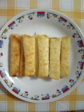 すご~く簡単☆餃子の皮でチーズ巻き♪