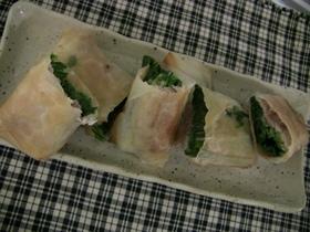 青菜と豚肉の春巻き