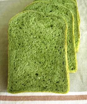 鉄Ca補給☆緑のパン(HB)