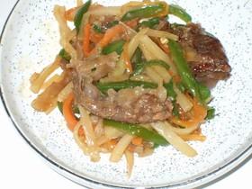 ❤牛肉と彩り野菜のチンジャオロース風❤