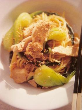 お惣菜風♡青梗菜と鶏肉のパスタ♡