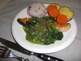 簡単!鮭の青野菜のあんかけステーキ