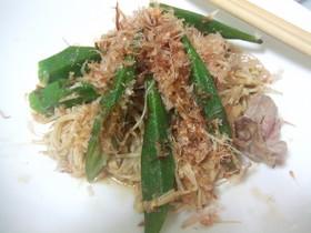 オクラときのこと豚肉❤ご飯進むポン酢炒め