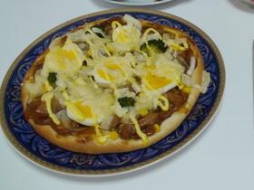 薄力粉で照り焼きチキンピザ