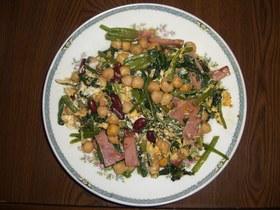 栄養満点お豆のポパイ炒め