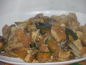 厚揚げと鶏の坦々炒め煮