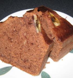 バター不要★チョコバナナパウンドケーキ