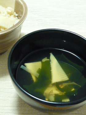 春の味覚★若竹のすまし汁
