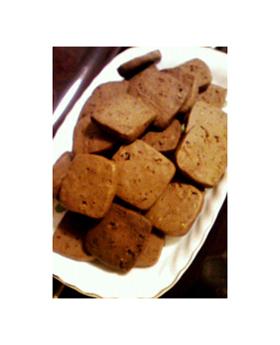 硬めのクランチココアクッキー