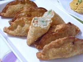 ポテトの揚げ餃子♪アスパラ・鮭フレーク入