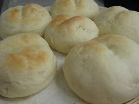 オーブンレンジ発酵*簡単*白パン*