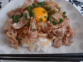 *腹ぺこさんのマヨ豚丼*