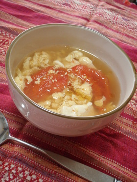 ☆卵とトマトと豆腐のふわふわスープ☆