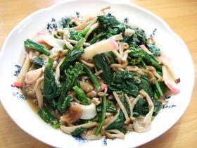 えのきとほうれん草の麺つゆ炒め