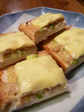 朝ごはんに葱チーズ和風トースト