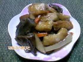 芋がらの煮物(^^♪治部煮風