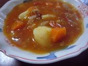 トマトが主役の簡単トマトスープの写真