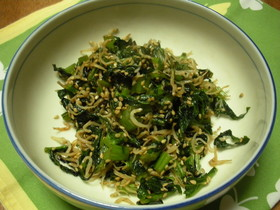 大根の葉がおいしい炒め物
