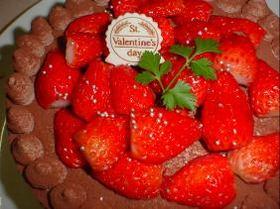 バレンタインに!生チョコクリームケーキ♪おいち~♪